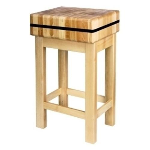 Kloc masarski z podstawą drewnianą 40x40x15