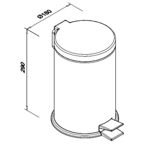Kosz na śmieci ze stali nierdzewnej o pojemności 5 litrów SN M