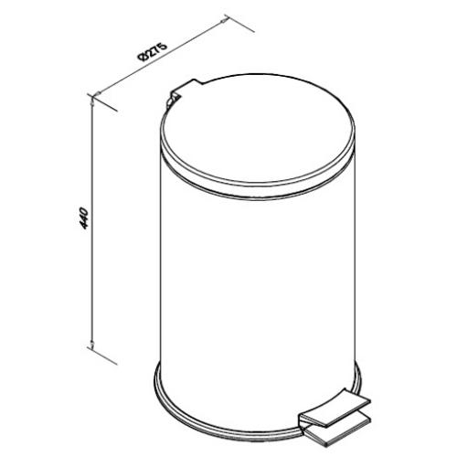 Kosz na śmieci ze stali nierdzewnej o pojemności 20 litrów SN M
