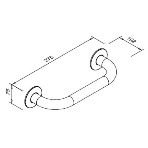 Poręcz prosta dla niepełnosprawnych 300 mm SW B