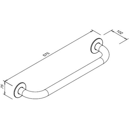 Poręcz prosta dla niepełnosprawnych 500 mm SW B