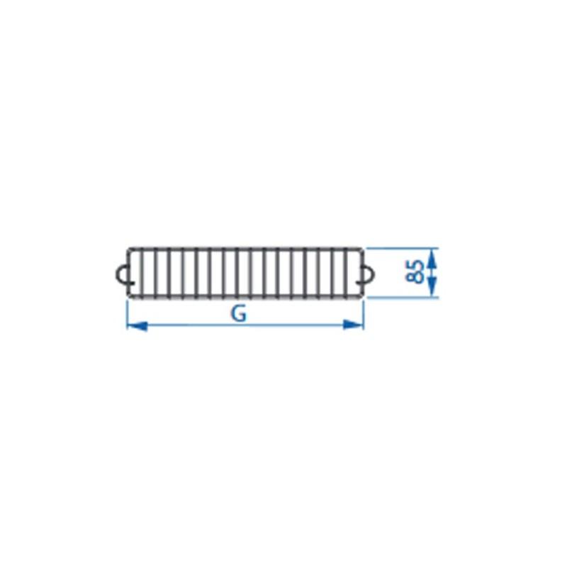 Ogranicznik boczny do regałów Mago o głębokości 27 cm
