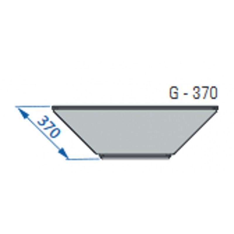 Półka z kompletem wsporników do regałów Mago o głębokości 37 cm