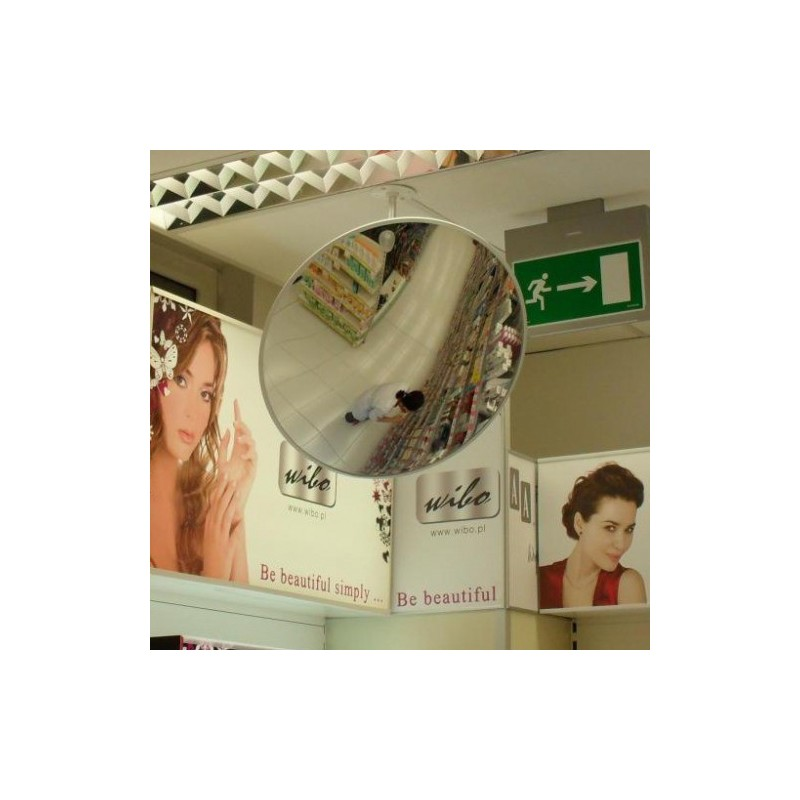 Lustro akrylowe nietłukące antykradzieżowe do sklepu obserwacyjne okrągłe o średnicy 30 cm LS30CM