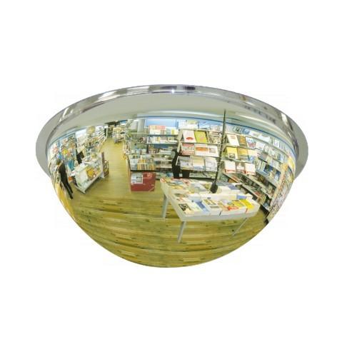 Lustro akrylowe do sklepu sferyczne 1/2 kuli o średnicy 60 cm LP1/260CM