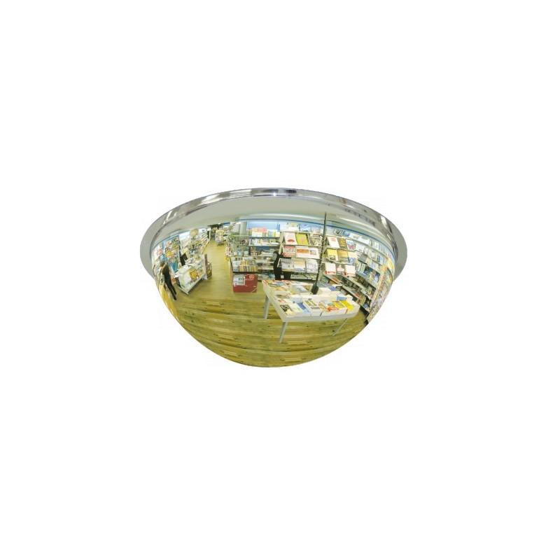 Lustro akrylowe do sklepu sferyczne 1/2 kuli o średnicy 80 cm LP1/280CM