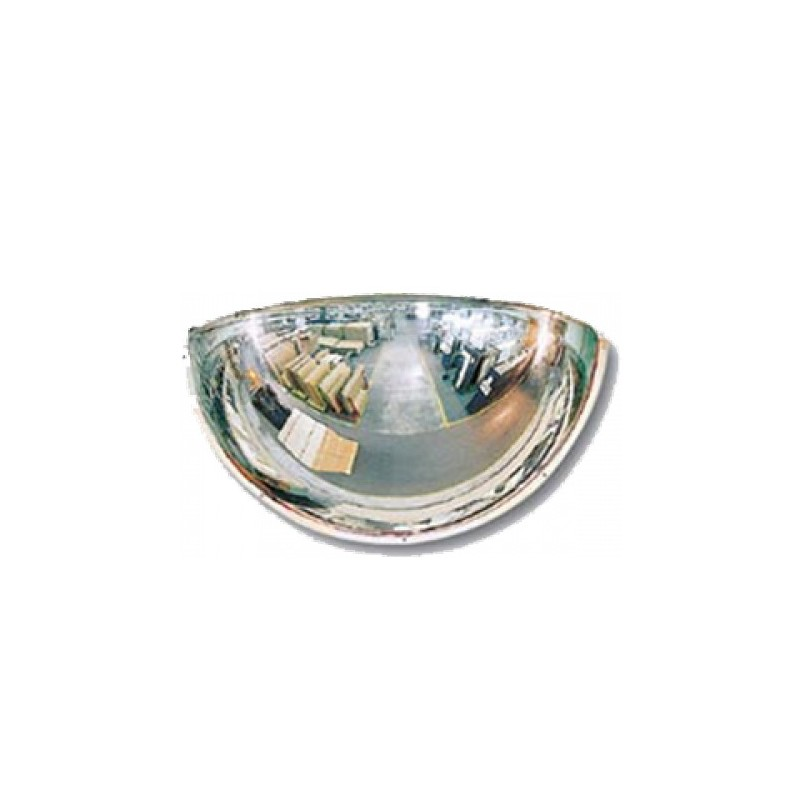 Lustro akrylowe do sklepu sferyczne 1/4 kuli o średnicy 80 cm LP1/4 80cm