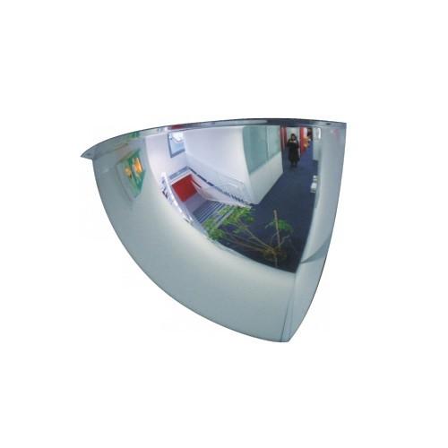 Lustro akrylowe do sklepu sferyczne 1/8 kuli o średnicy 60 cm LP1/860CM