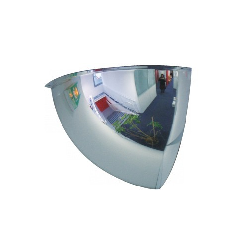 Lustro akrylowe do sklepu sferyczne 1/8 kuli o średnicy 80 cm LP1/860CM