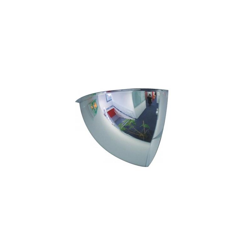Lustro akrylowe do sklepu sferyczne 1/8 kuli o średnicy 100 cm LP1/8100CM