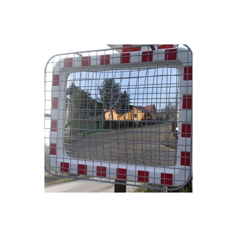 Lustro drogowe akrylowe z siatką zabezpieczającą o wymiarach 60x80 cm