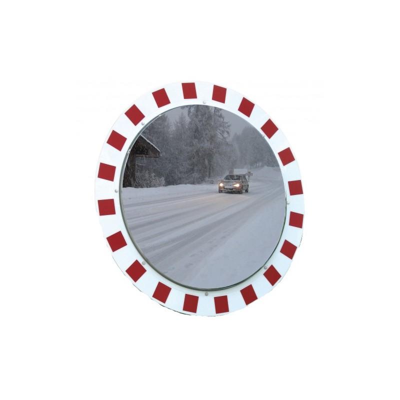 Lustro drogowe odporne na szron i parę o średnicy 60 cm