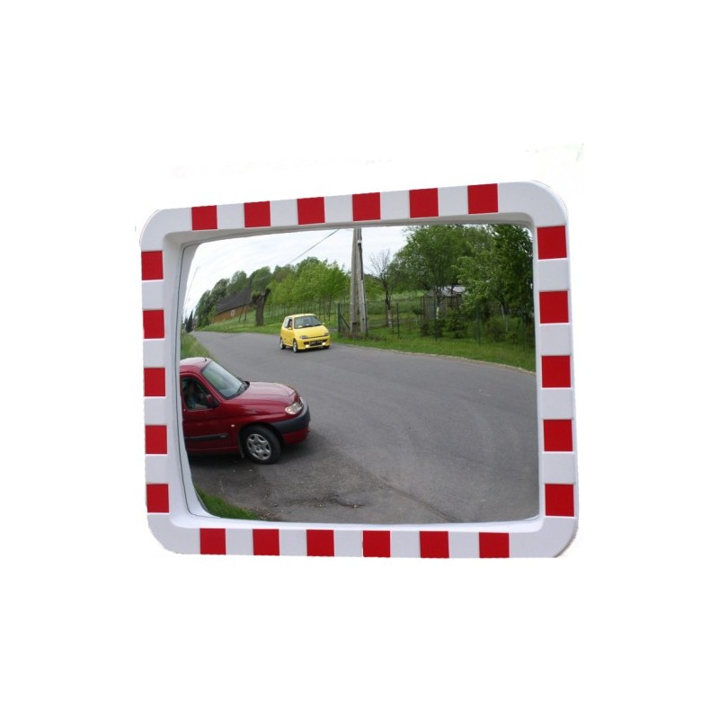 Lustro drogowe poliwęglanowe o wymiarach 60x80 cm
