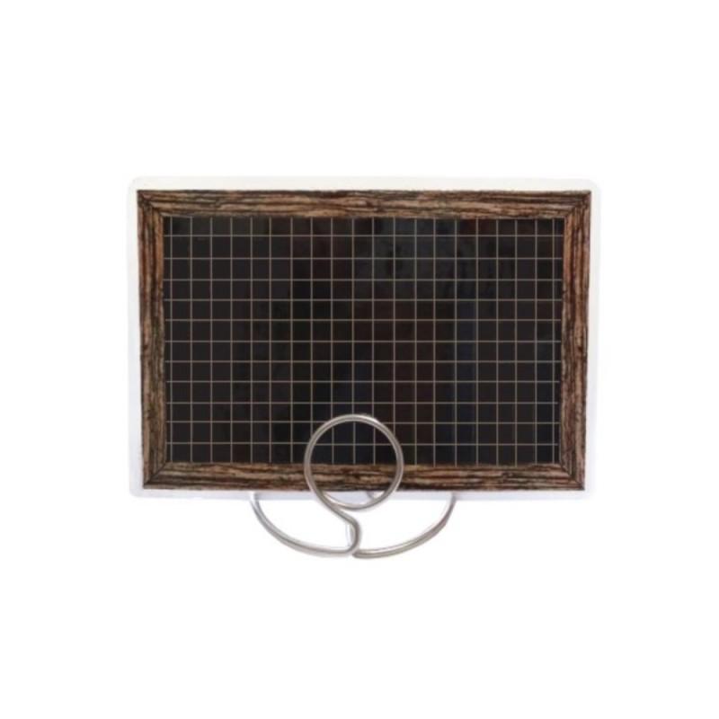 Etykietka cenowa laminowana czarna z ramką o wymiarach 60x95 mm CE0053