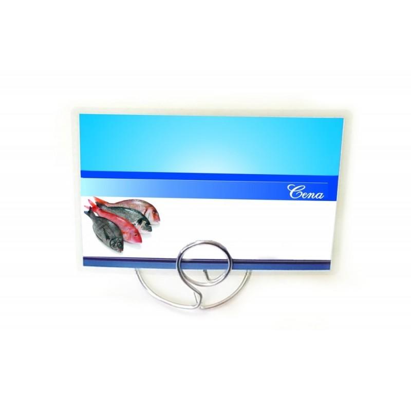 Etykiety cenowe laminowane RYBY o wymiarach 65x95 mm CE0047