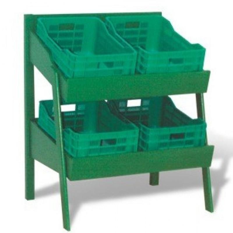 Regał na warzywa i owoce o wymiarach 115x950x70 cm WO-4K/WAL