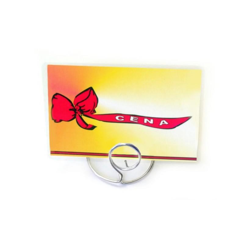 Etykiety cenowe laminowane ze wstążką o wymiarach 65x95 mm CE0050