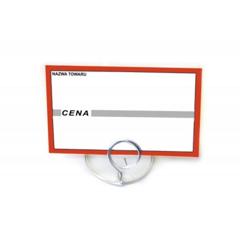 Etykiety cenowe laminowane cenówki klasyczne o wymiarach 65x95 mm CE0054