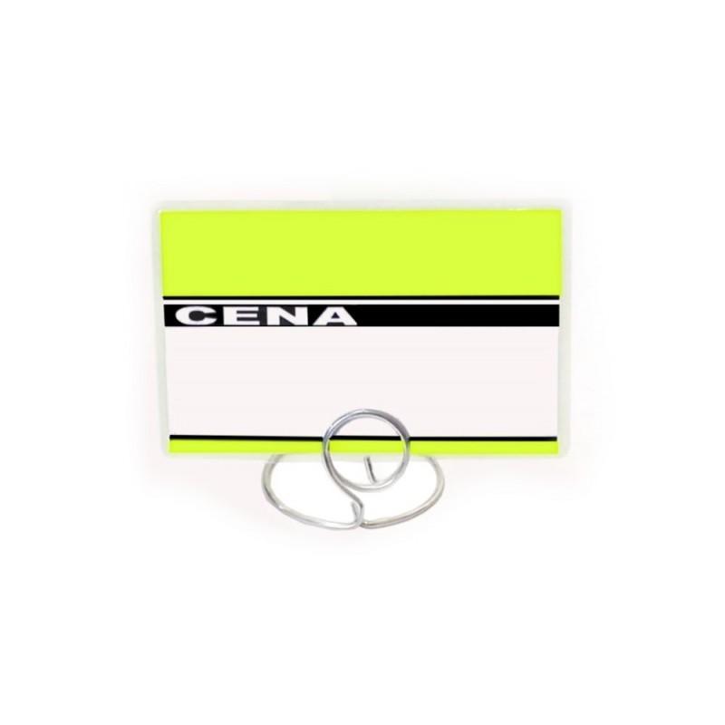 Etykiety cenowe laminowane różne kolory o wymiarach 60x95 mm