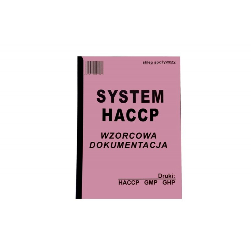 Wzorcowa dokumetacja System HACCP w sklepie spożywczym TA0156