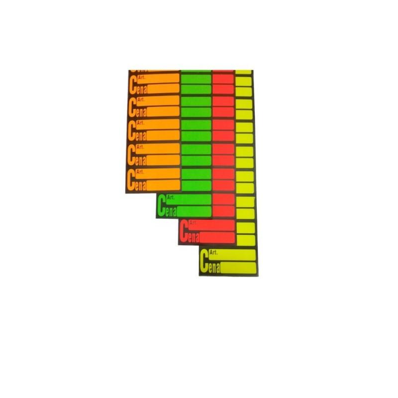 Ceny samoprzylepne na pasku RC0001/RC0004/RC0003/RC0002