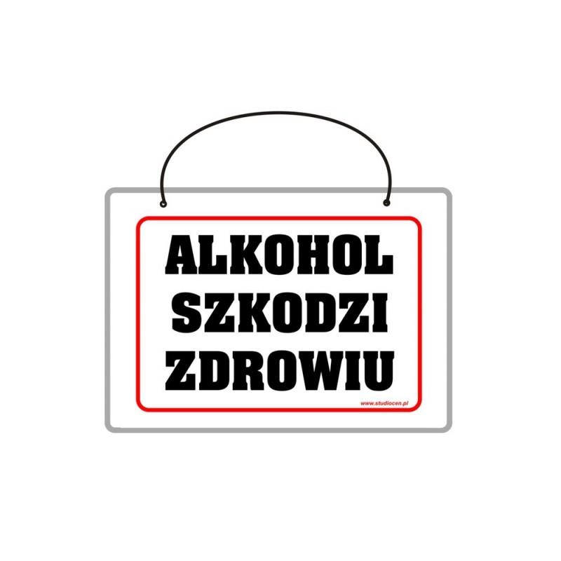Tabliczka A5 laminowana z napisem alkohol szkodzi zdrowiu TA0046
