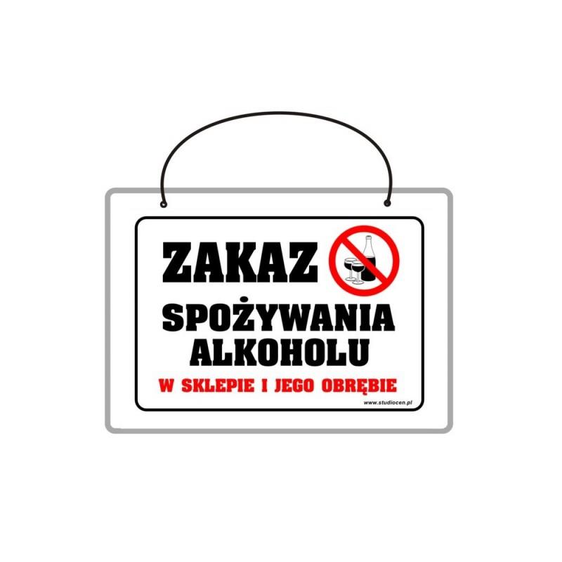 Tabliczka A5 laminowana z napisem zakaz spożywania alkoholu TA0048