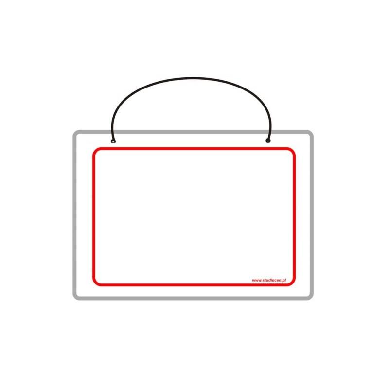 Tabliczka A5 laminowana bez napisu TA0050
