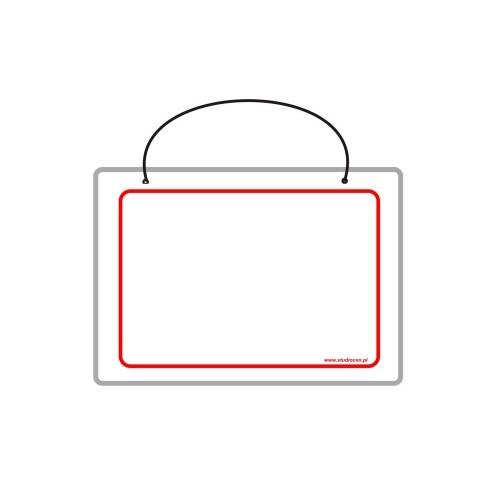 Tabliczka A5 laminowana bez napisu