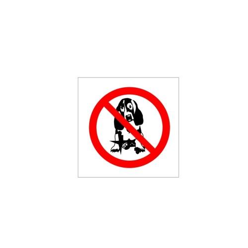 Naklejka zakaz wprowadzania psów o wymiarach 10x10 cm