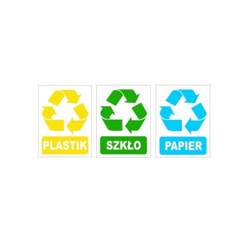 Naklejki recyklingowe o wymiarach 15 x 20 cm