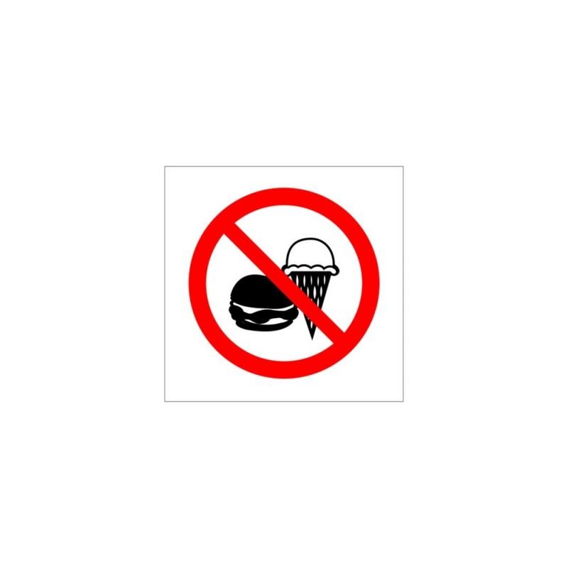 Naklejka zakaz wchodzenia z lodami o wymiarach 10x10 cm NA0002
