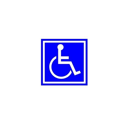 Naklejka inwalida o wymiarach 10x10 cm