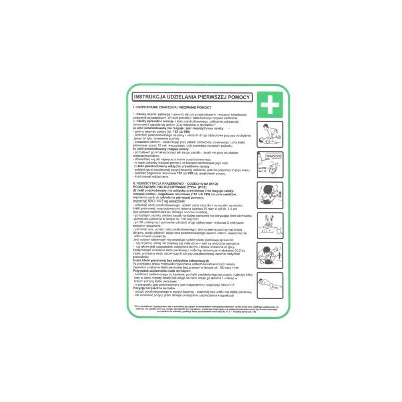 Instrukcja udzielania pierwszej pomocy TA0099
