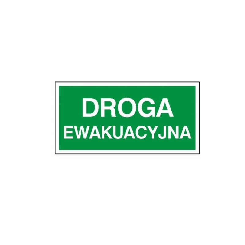 """Znak """"Droga ewakuacyjna"""" TA0125"""