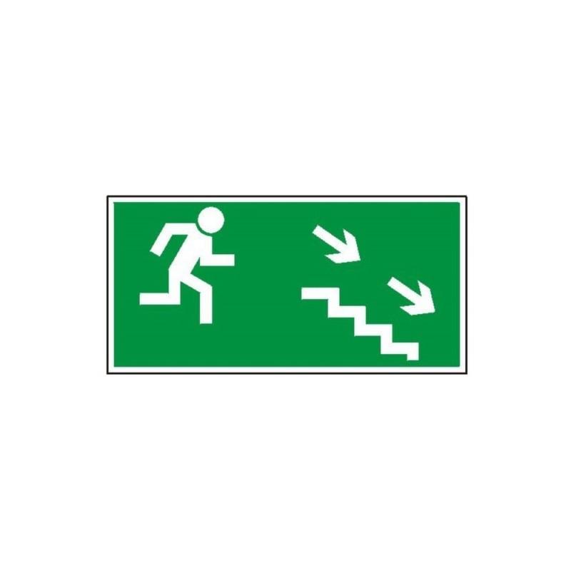 """Znak """"Kierunek do wyjścia drogi ewakuacyjnej schodami"""" TA0127"""