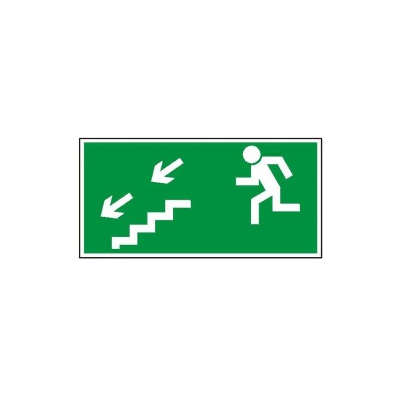 """Znak """"Kierunek do wyjścia drogi ewakuacyjnej schodami"""" TA0126"""
