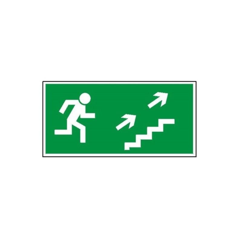 """Znak """"Kierunek do wyjścia drogi ewakuacyjnej schodami"""" TA0129"""