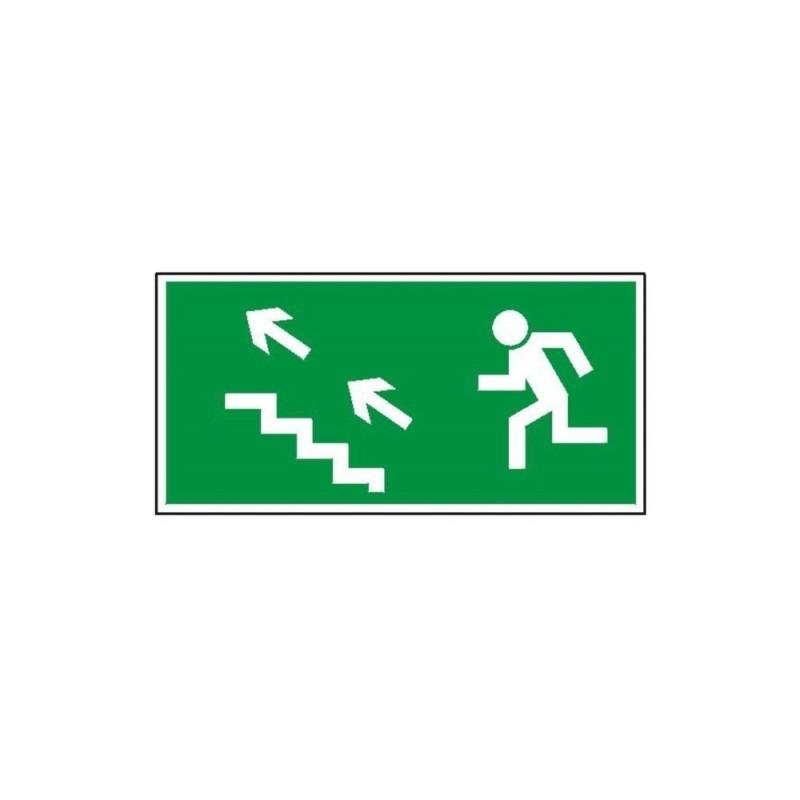 """Znak """"Kierunek do wyjścia drogi ewakuacyjnej schodami"""" TA0128"""