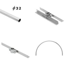 Rury i wsporniki półek Ø 32 mm
