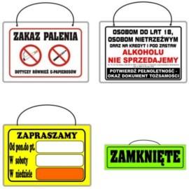 Tabliczki informacyjne laminowane