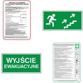 Instrukcje BHP, PPOŻ i znaki ewakuacyjne